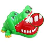 Sipobuy Crocodile Toy Classic Mouth Dentist Bite Finger Family Game Children Kids Action Skill Game Toy