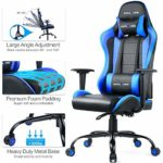 GTPLAYER Gaming Chair Racing Desk Computer Office Chairs【2 Years Limited Warranty】 Ergonomic Design with Cushion Lumbar Arms and Reclining Back Support(Blue)