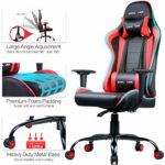 GTPLAYER Gaming Chair Racing Computer Office Desk Chairs【2 Years Limited Warranty】 Ergonomic Design with Cushion Lumbar Arms and Reclining Back Support(Red)