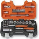 Bahco S330 Socket Set 34 Piece 1/4 and 3/8 Square Drive                                                            [Energy Class A]