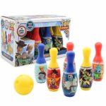 Toy Story 4 Forky Bowling Set Toys For Kids   Includes 6 Pins And Ball   Garden Games For Children