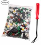 500 Pcs Car Trim Clips Plastic Fasteners Bumper Rivet Universal Auto Fastener Clips with Panel Removal Pry Tool