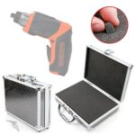 DURAGADGET Silver Aluminium Armoured EVA 'Shell' Storage Case with Fully-Customizable & Shock-Absorbing D.I.Y Foam Interior - Compatible with the Black + Decker CS3653LC-GB 3.6 V Li-Ion Screwdriver