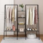 HOMERECOMMEND Large Clothes Rail Clothing Rack Stand