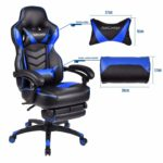 Puluomis Swivel Racing Chair PU Leather Video Gaming High Back Chairs Ergonomic Office Chairs With Arm rest and Cushion