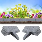 Heveer Garden Border Edging Grey Stone Effect Lawn Edging Plastic Plant Fence for Flower Bed Grass Bordering 10 Pieces: Amazon.co.uk: Garden & Outdoors
