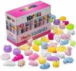 Mini Animal Squishy Pack - 40 Pieces Random Mochi Squishies Party Favor Toys for Kids and Soft Squeezable Stress Reliever for Children -party bag toys- party bags filler: Amazon.co.uk: Toys & Games