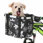 Lixada Bicycle Front Basket Foldable Bike Handlebar Basket Removable Cycling Frame Basket Pet Dog Cat Carrier Bag for Handlebars Up to 2.5cm In Diameter (Type 2): Amazon.co.uk: Sports & Outdoors