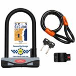 Burg-Wächter Gold Sold Secure Bicycle D Lock & 1.2M Security cable
