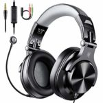 OneOdio Computer Headphones with Mic Over Ear Headsets with In-Line Mute Cable & Wired Stereo Laptop Headsets for Zoom Skype Office Conference Phone Call Online Course & PS4 Xbox One PC Gaming