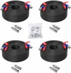 ZOSI 4 Pack 150ft (45 Meters) 2-in-1 Video Power Cable