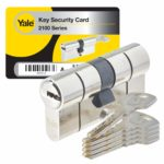 Yale YC2100 – Cylinder Lock 40 x 40 mm for External Door/Entry Door