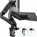 FITUEYES Dual Monitor Arm Mount for 13-27 Inch 360° Rotatable Desk Mount Stand for Computer PC Laptop Screen