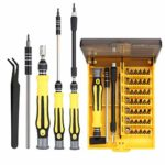 Neoteck 46 in 1 Precision Screwdriver Tool Professional Portable Multi-Functional Repair Set Screw Driver Kit with Tweezers and Extension Rod for Phones PC Electronic Maintenance