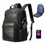 BOPAI 30L Travel Backpack for Men Anti Theft Laptop Backpack 15.6 inch Business Computer Bagpack with USB Charging Water-Resistant Rucksack Black