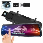ThiEYE Mirror Dash Cam 1080P Dual Dash Camera Front and Rear with Waterproof Backup Cam