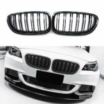M5 Look F10 F11 5 Series Front Kidney Grille Grill (Glossy Black