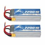 Yowoo 2 Packs 6S 2200mah 50C 22.2V Lipo Battery with XT60 Connector RC Battery for SAB380 Align 470 ALZRC Devil 380 480 RC Helicopter Airplane Cars Truck Buggy Truggy Multicopter Drones