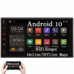 Double Din Car Radio Android 10.0 Car Stereo with Bluetooth in Dash Navigation Car Video Player 2 din GPS Sat System Wifi Mirrorlink Support USB SD 1080P Colorful Button Lights New UIs External Mic