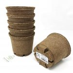 Tech-Garden 32 Pack of - 10 cm Biodegradable Biopot Plant Pots Eco Friendly & Compostable Round Seeding Germinating Plastic Free Peat Growing Sturdy Growing Pot with Drainage Holes