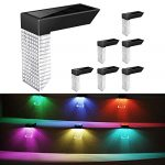 6 Pack Solar Fence Lights Outdoor