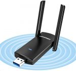 jojobnj WiFi Adapter - AC1300 Dual Band (2.42GHz/300Mbps+5.8GHz/867Mbps)