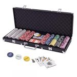 Display4top Texas Holdem Poker Chips Set with Aluminum Case