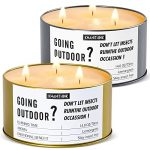 KWANITHINK Citronella Candles Outdoors Large