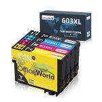 OfficeWorld 603XL Ink Cartridges Replacement for Epson 603 XL Multipack Compatible with Epson Expression Home XP-2100 XP-2105 XP-3100 XP-3105 XP-4100 XP-4105 Workforce WF-2810 WF-2830 WF-2835 WF-2850