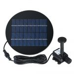 Decdeal Solar Powered Water Pump 9V 2W Submersible Brushless Fountain Kit for Bird Bath Pond Pull 200L/H 150cm Lift