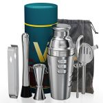 Vinekraft Cocktail Making Set Premium Cocktail Shaker Set Stainless Steel Cocktail Accessories with Jigger Strainer Muddle & Spoon