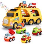 TEMI 5-in-1 Friction Power Toy Vehicle in Carrier Truck