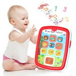 INSOON Baby Tablet Baby Toys for 6 Month + Old Baby Ipad with Music Light Educational Toys Learning ABC Numbers Colors Musical Baby Toys for 1 Year Old Girls and Boys 1st Birthday Gifts