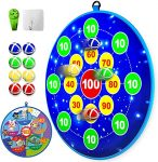 Lbsel Dart Board Set with 8 Sticky Balls and 2 Hook for kids