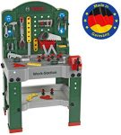 Theo Klein 8580 Bosch Work Station I 44 Parts I Workbench Including Work Surface with learning Function I Dimensions: 61 cm x 44.5 cm x 101 cm I Toy for Children Aged 3 Years and up