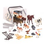 Terra by Battat AN2802Z Country World Figurines – Assorted Miniature Farm Animal Toy Figures for Kids 3+ (60Pc)