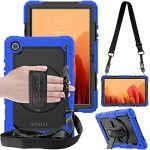 """TECHGEAR UTILITY Case fits Samsung Galaxy Tab A7 10.4"""" (SM-T500 / SM-T505) Tough Rugged HEAVY DUTY Armour Shockproof Impact Case with 360 Rotating Stand"""