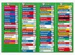 Fiesta Crafts T-2401 Magnetic Football Table Chart